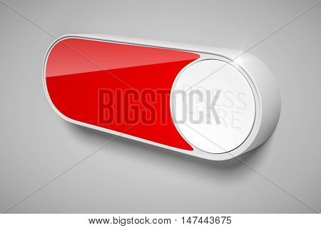 3d rendering of a dash button to order things in the internet with space for your own text