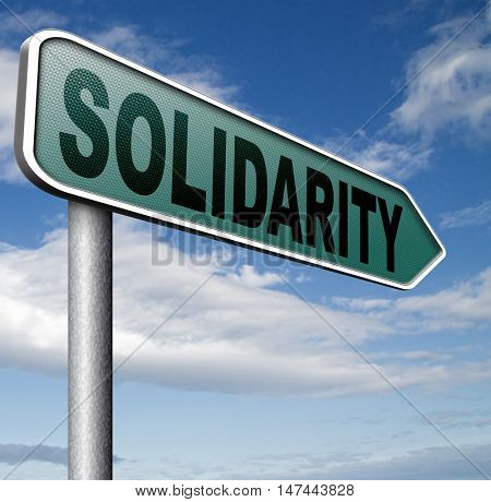 solidarity social security international community and cooperation 3D illustration
