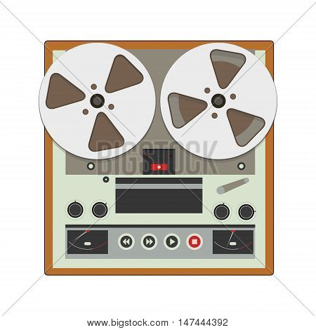 Reel-to-reel Recorder With Cassete Tape Cartridges. Retro Music Gadget From 21-st Century. Old Music
