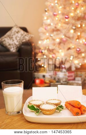 Food for Santa and Rudolph with blank name tags