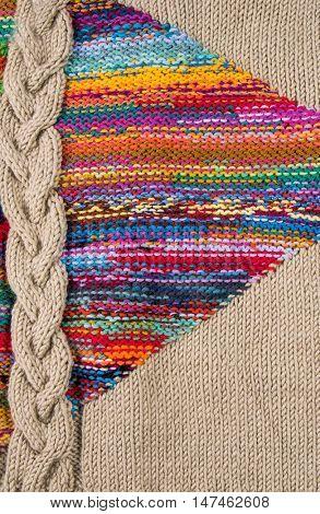 striped colorful wool texture handmade patten closeup macro blue red green yellow pink purple orange beige