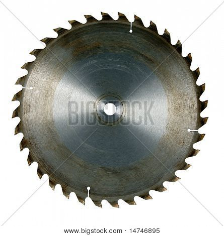 Circular saw blade isolated over white background