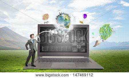 Marketing focus pocus . Mixed media