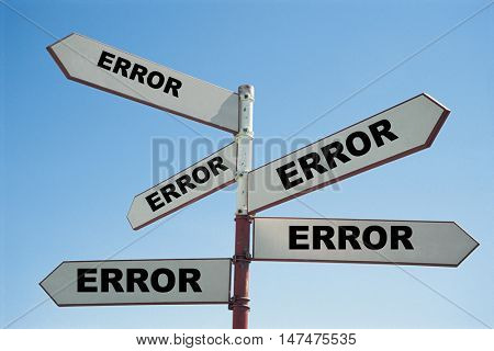 All routes point to an error