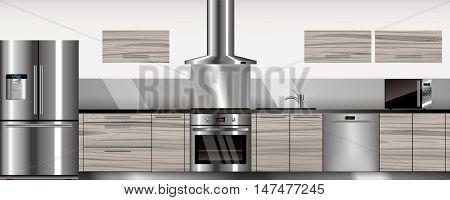 Vector Modern Kitchen