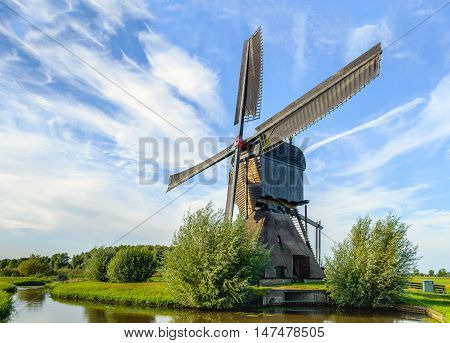 Mill Het Noordeveld commonly known as Noordeveldse Molen is a large wooden hollow post mill with a thatched stone base and an open paddlewhleel. The polder mill was originally built in 1795 and after a fire in 1992 completely restored in 1997.