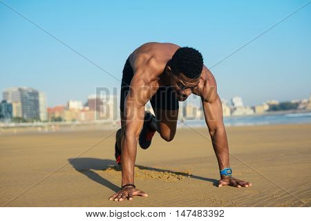 Man Doing Mountain Climbers Exercise Workout