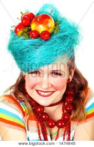 Charming Apple Girl