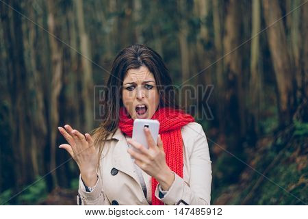 Upset Woman With Smartphone