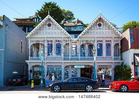 Sausalito USA - September 23 2015: A traditional fashion store on the waterfront