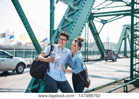 Couple Travel Destination Journey Togetherness Concept poster