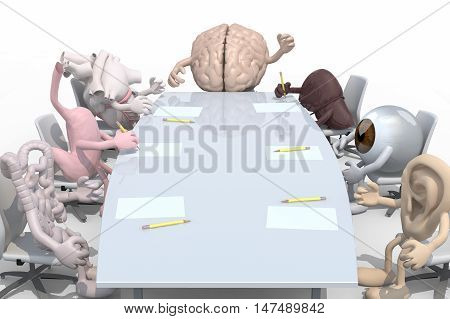 Many Human Organs Meeting Around The Table