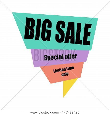 Big sale banner template design. business concept