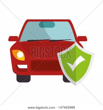 icon insurance security design vector illustration eps 10