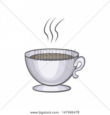 Cup of coffee icon in cartoon style isolated on white background vector illustration