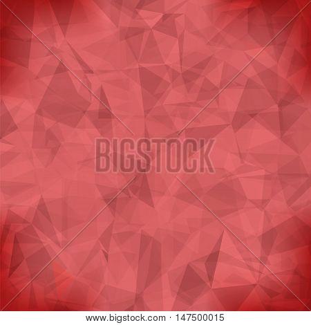 Red Light Polygonal Mosaic Background.  Business Design Templates. Triangular Geometric Pattern