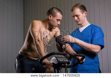 Checking His Blood Pressure