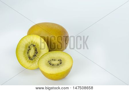 Whole Kiwi Fruit And Half