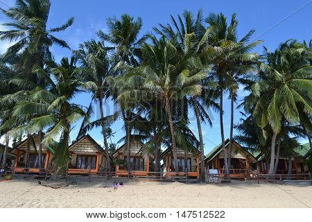 Beach houses on the Mae Nam beach in Koh Samui 2016