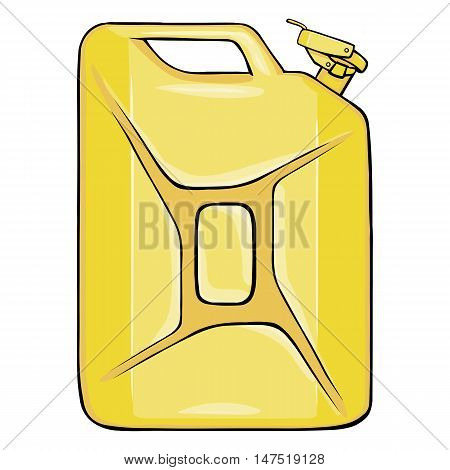 Vector Cartoon Single Jerry Can