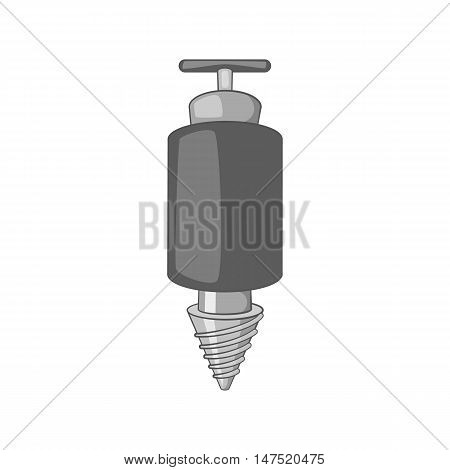 Jackhammer icon in black monochrome style on a white background vector illustration