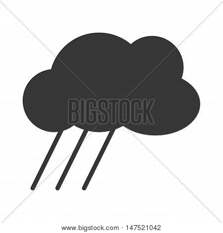 cloud shape with rain. cloudy weather silhouette. vector illustraiton