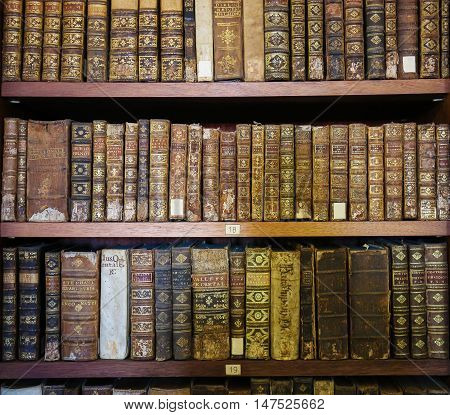 Old Books In The Library Of Coimbra