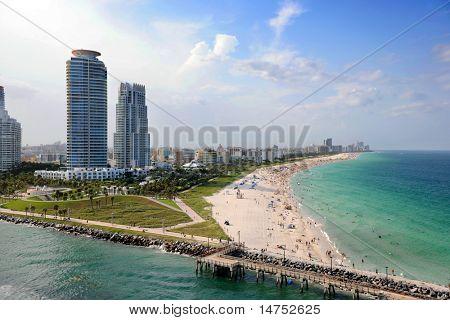 Vista aérea de South Miami Beach