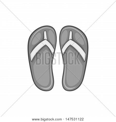 Slates icon in black monochrome style isolated on white background. Shoes symbol vector illustration