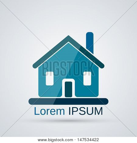 House, homepage blue silhouette vector web icon