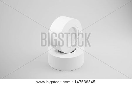 Two White Insulation Tape Rolls
