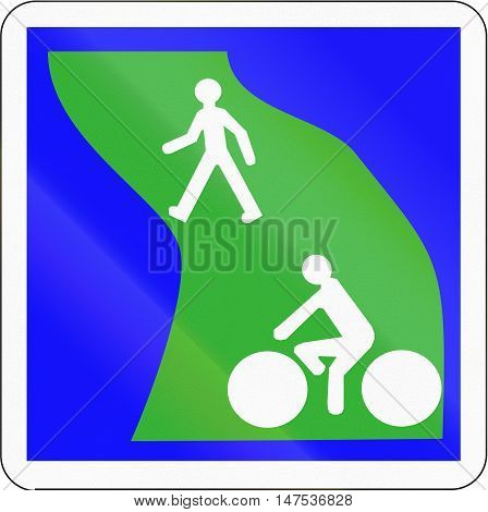Road Sign Used In France - Greenway