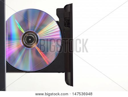 Optical disc reader isolated on white background