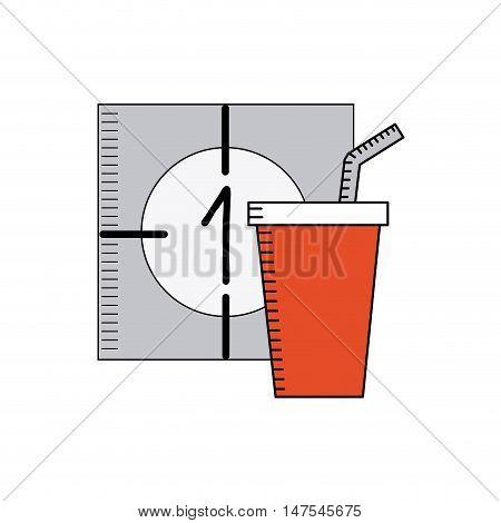 counter cinematographic with cinema icon vector illustration design