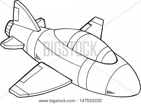 Doodle Jet Vector Illustration Art