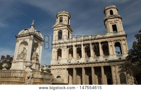 The Saint Sulpice is a Roman Catholic church in Paris on the east side of the place Saint Sulpice in the Luxembourg quarter of the 6th arrondissement.It is the second largest church in the city.