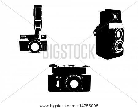 Vintage cameras sketched