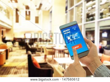 A digital wallet to pay for goods and services in restaurants to convenient and fast.
