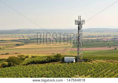 Telecommunication tower mast TV antennas wireless technology