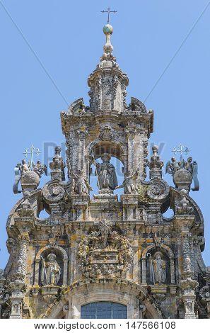 Saint James Sculpture In Santiago De Compostela Cathedral