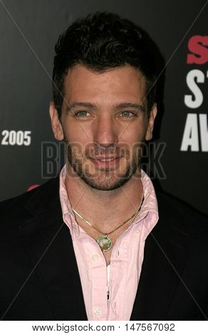 J.C. Chasez at the 2005 Stuff Style Awards held at the Hollywood Roosevelt Hotel in Hollywood, USA on September 7, 2005.