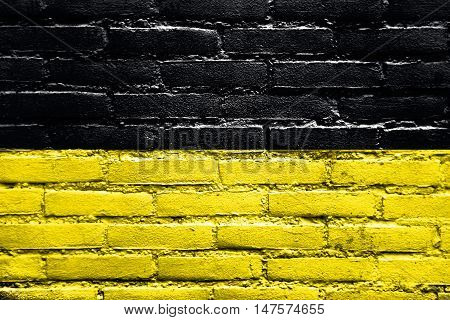 Flag Of Baden-wurttemberg, Germany, Painted On Brick Wall