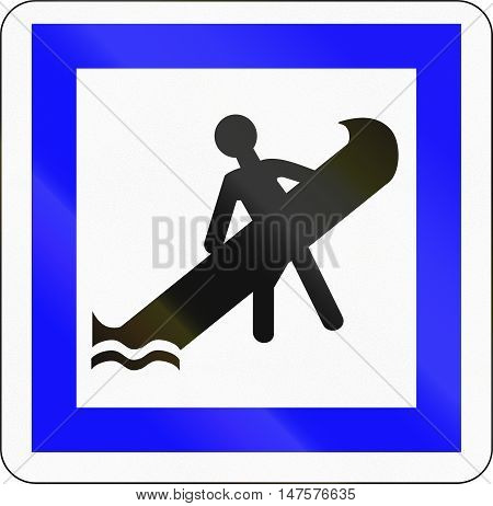Road Sign Used In France - Landing Place For Boats