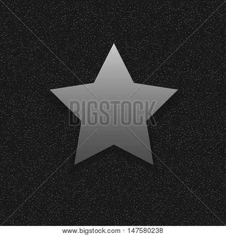 Silver Star sign. Celebrity symbol, medal of honor