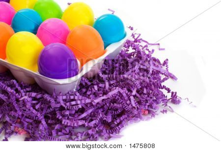 Colorful Easter Eggs In A Carton