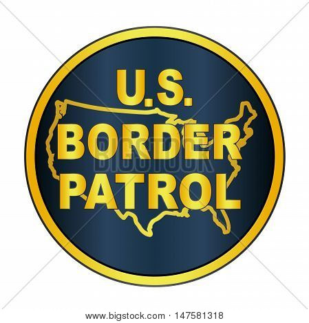 A depiction of the United States Border Control button