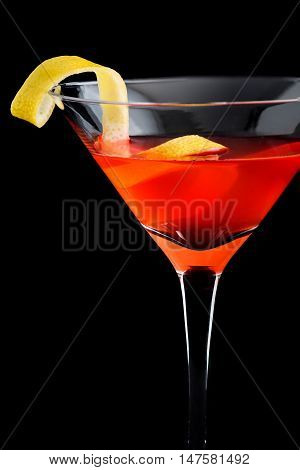 Cosmopolitan Cosmo Cocktails On Black Background