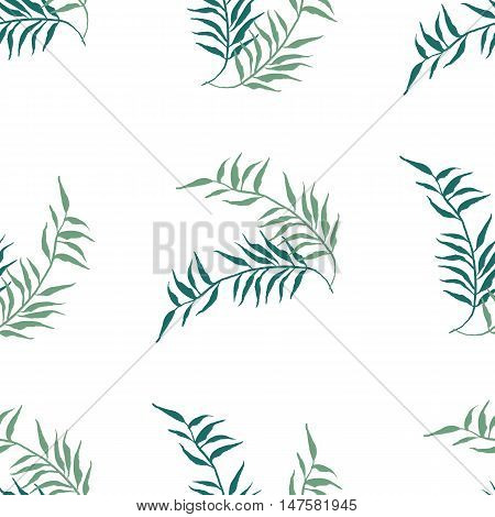 Watercolor floral seamless pattern. Hand drawn texture with leaf.