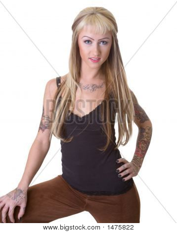 Tattoo Girl Standing
