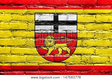 Flag Of Bonn, Germany, Painted On Brick Wall